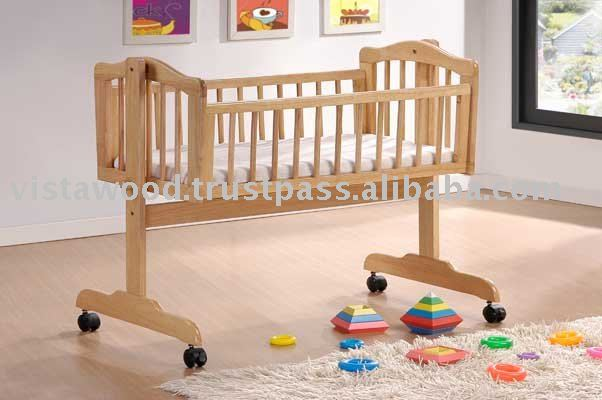 swing cradle, swing crib, baby furniture, baby cradle, baby crib, woodne furniture