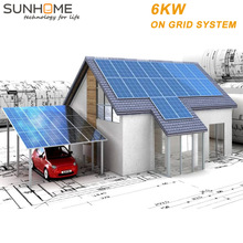 Sunhome 6KW 3000w solar home system on grid power top rating china energy for from SUNHOME