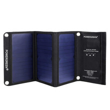 PowerGreen Banks Power 5V Pack System Compact And 21W Solar Battery Phone Charger For Hiking