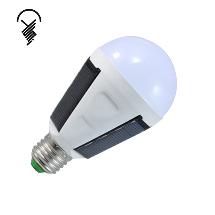 2019 Hot sell E27 B22 bombilla solar 12W 1200mA rechargeable led solar <strong>bulb</strong>