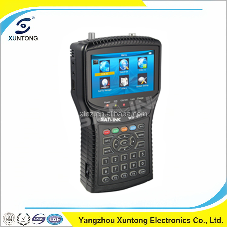 Original satlink ws-6979 HD DVB-S/S2 & DVB-T/T2 digital satellite finder LCD Screen ws6979 sat finder