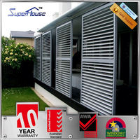 Australian standards AS2047 AS2208 AS1288 aluminium louver sliding door with 10years warranty