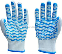 pvc dotted working glove/gloves short cuff