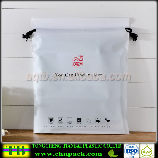 Wholesale Clear Plastic Drawstring Polyester Laundry Bag