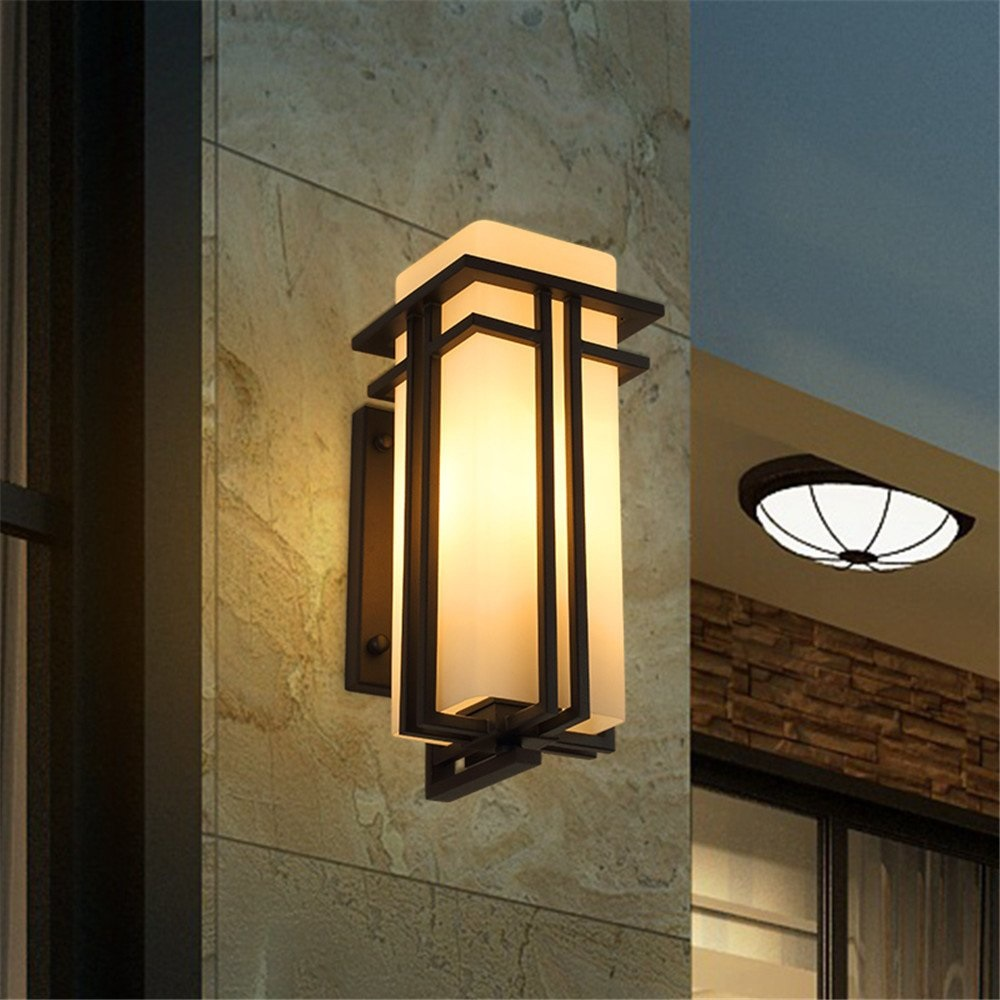 Outdoor Wall lamp Simple Modern New Chinese Waterproof Exterior Wall Garden lamp American Creative Aisle Outdoor Balcony