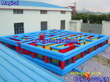 Inflatable maze fun city/obstacle course