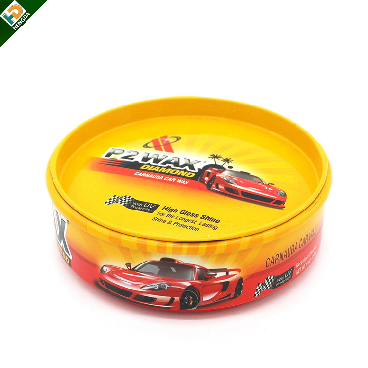 Round Tin Can For Car Wax or Shoe Polish