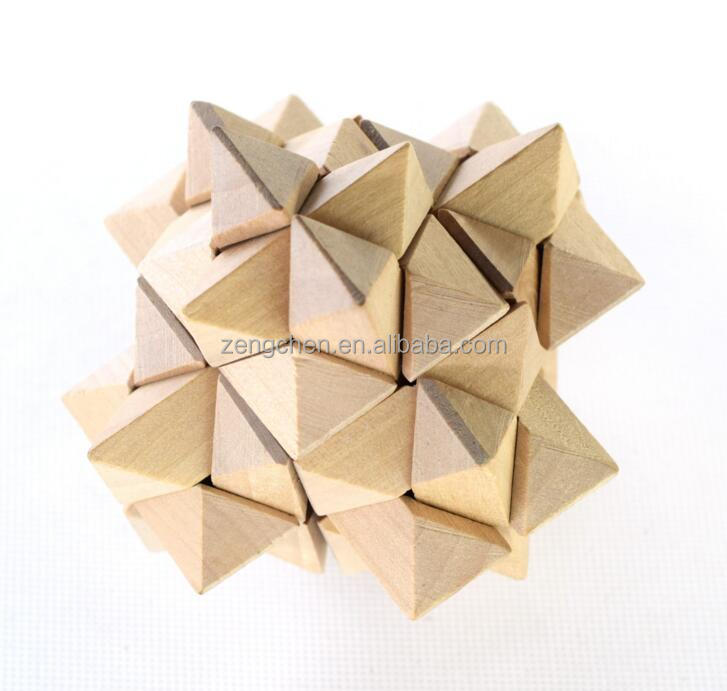 Wood Puzzle Brain Teaser Training Education Toy Office Desk Gift