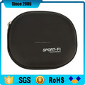 wholesale black PU leather EVA case for headphone
