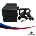 PQY RACING-Black Fuel Tank 3L RAW Aluminum SURGE TANK Y Block Bracket FUEL PUMP DUAL EFI WITHOUT 044 FUEL PUMP PQY-YBYH11
