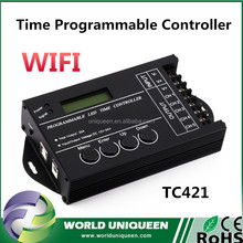 Hot Newest TC421 WIFI Timer DC12/24V TC420 WIFI Controller 5 channel Programmable USB Port Mobile phone LED WIFI Time Controller