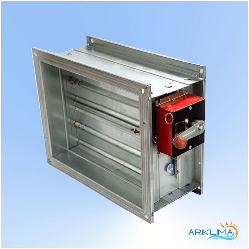 Motorized metal round control damper for ventilation for air regulation VCDA