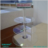 Factory Wholesale Best-selling 3 Tiers Led Clear Acrylic Cupcake Display Stand From China