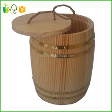 Wholesale Wooden Storage Barrel Coffee Bean Packaging Barrel
