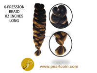 Pearlcoin X-Pression 82 inches Mixed Color Toyokalon Japanese Fiber Natural Yaki Jumbo Braid Extension