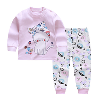 Comfortable baby set Four seasons Cartoon print baby clothes sets Unisex Kids Clothing Sets boys