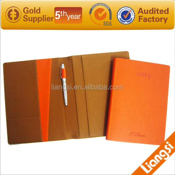 a4 personalized cheap promotion notebook and diary 2013