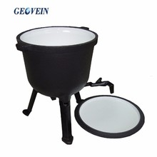 Pre-seasonsed 3 Legged Customized Mini Cast Iron Potjie Pot Fire Pot
