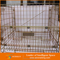 Euro Industrial heavy duty foldable metal wire basket