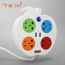 Factory supply multi-function universal usb charge power extension socket