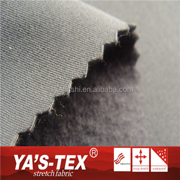 Textiles Wholesale Twill Polyester Stretch 3 Layer Laminated Fleece Fabric For Sportswear