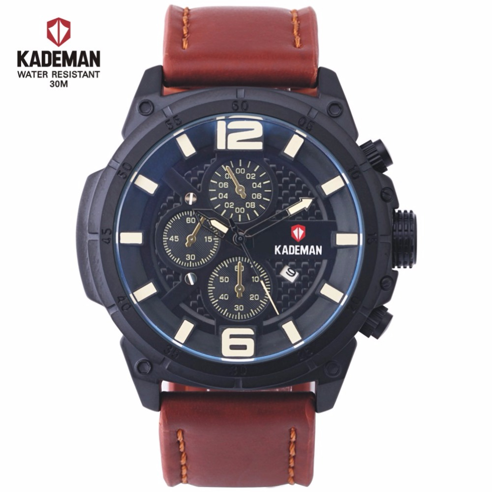 mens italian leather adorn straps watch