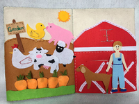 OEM farm soft baby soft cloth book kids quiet book for baby pre education