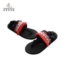 Brand factory shoes women flat sandals casual Bohemia beach sandals shoes Fashion Cute with embroidered flower