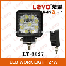 4.3inch Waterproof 27w 12V LED Working Light ,LED Driving Work Light