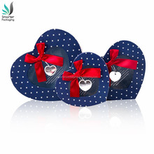 Wholesale Custom Plastic Clear PVC Heart Shape Window Christmas Gift Paper Packing Box With Lid
