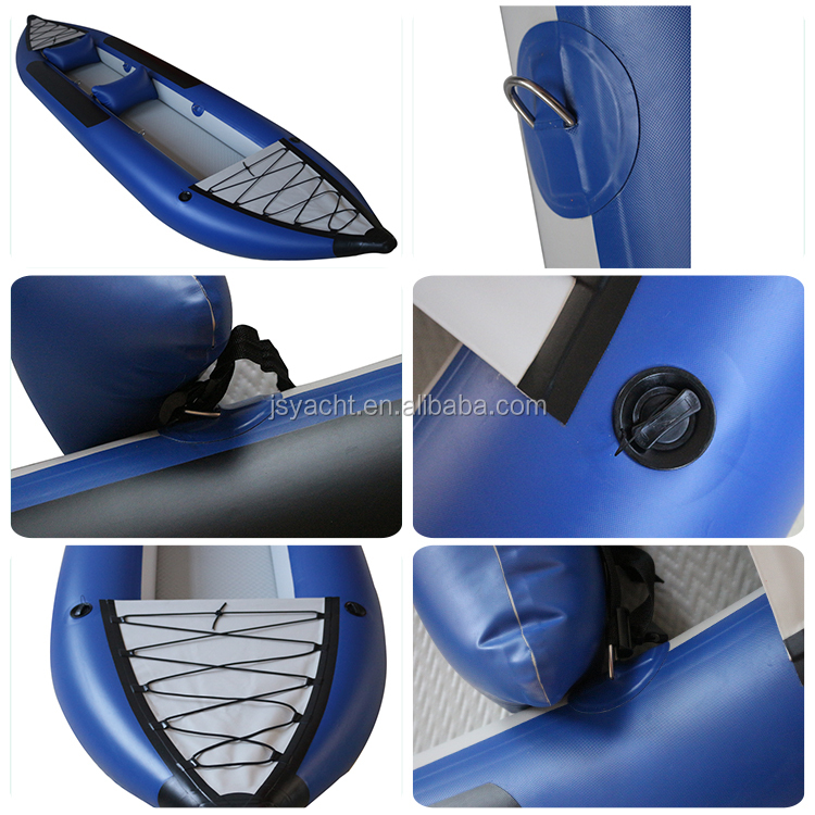 (CE) PVC material 2 passengers inflatable kayak with inflatable thwarts