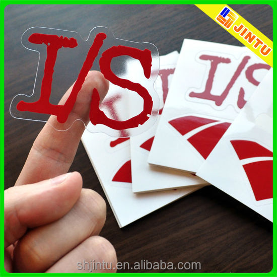 High quality removable vinyl window stickers, custom clear decal