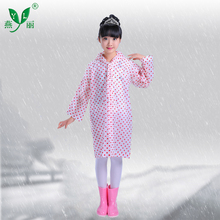Latest Design Outdoor School Children PVC Coated Wholesale Kids Raincoat