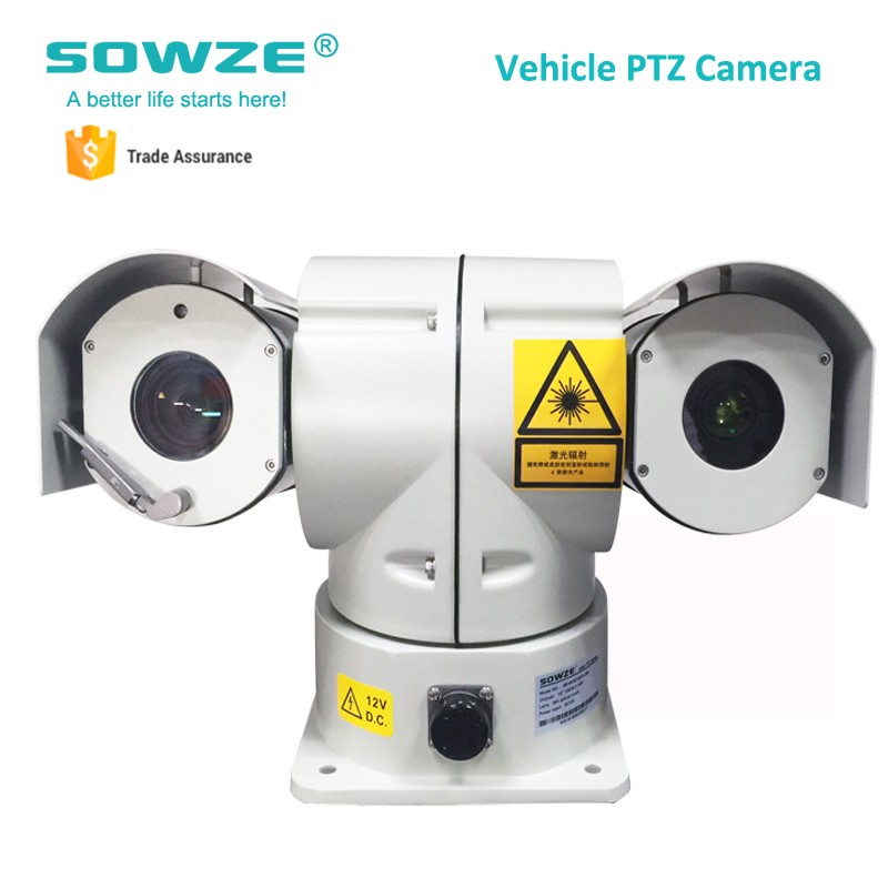 2.1MP Full HD Police Laser Car Surveillance Roof Mount Car Camera Waterproof Night Vision 30x Optical Zoom PTZ IP Camera