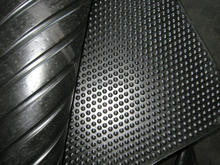 Oil-Proof Drainage Rubber Matting Rolls, Wide & Fine Ribbed Rubber Rolls Flooring Mats