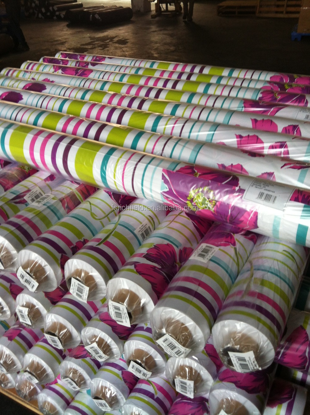 PVC tablec cloths in rolls made in Foshan