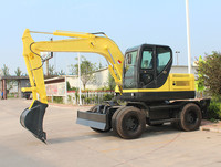 12 Ton Bucket Excavator On Wheels Remote Control Excavator Used Wheel Excavator