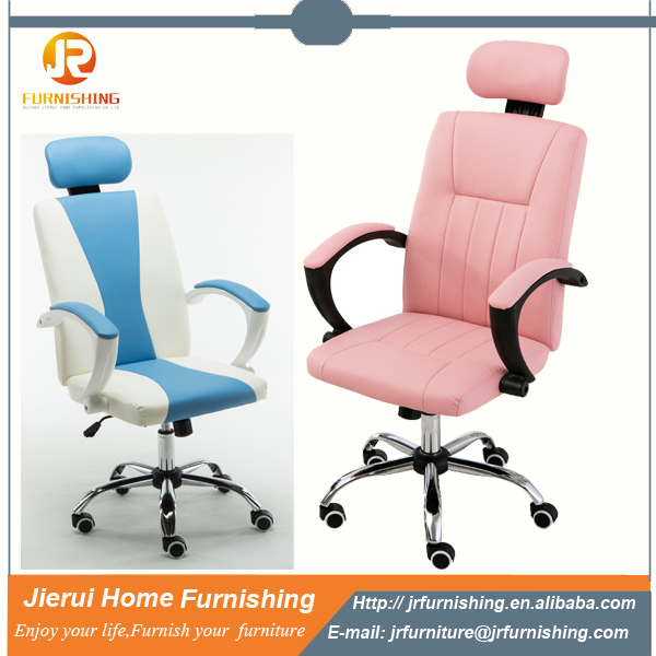 Modern design adjustable leather office chair chair with head rest