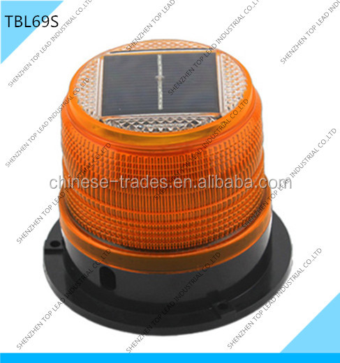 Rotating Beacon Solar Warning Light Halogen Strobe Light