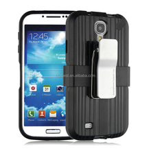 BC-05 Anti-shock Back cover for Samsung S4, Metal Belt Clip Case for S 4, Stand mobile phone cases with holster for galaxy s4