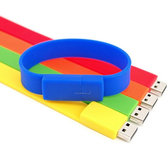 1gb to 64gb China factory promotional custom logo usb flash drive bracelet