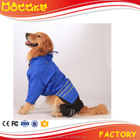 Wholesale Price Big Dog Raincoat/ Full Protection Waterproof Raincoat for Large Pet Dog
