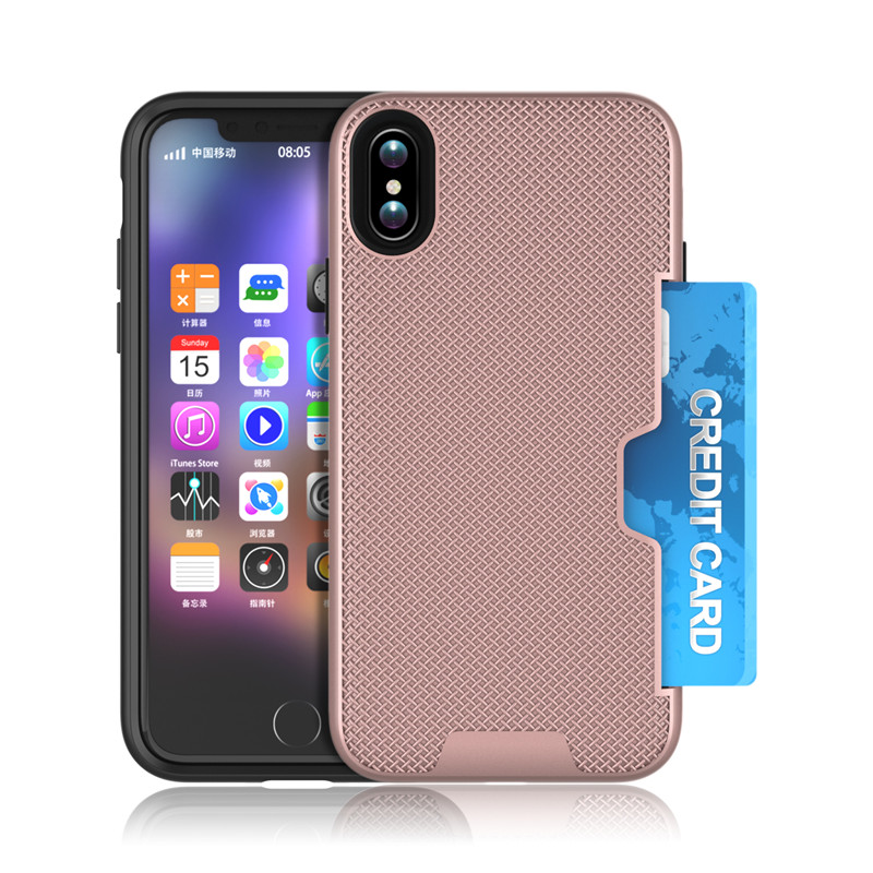 For iPhone 8 Shockproof Armor Case with Card Slot