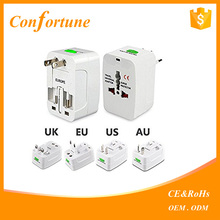 double usb Universal World Charger Plug All-in-one Travel AC Power Adapter Converter to US UK AU EU plug