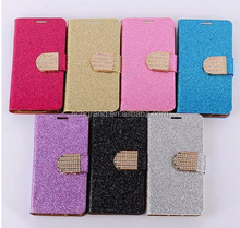 new diamond bling magnetic wallet pu leather flip case cover for samsung