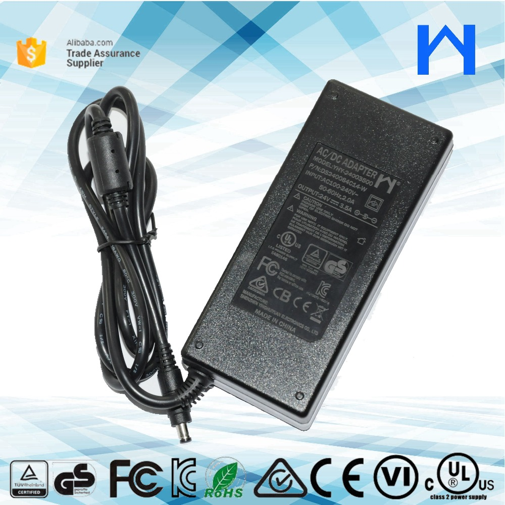 Universal power supply 24V 3.5A 3500ma 84W power adapter 24V 3.5A for led light strip UL cUL approved