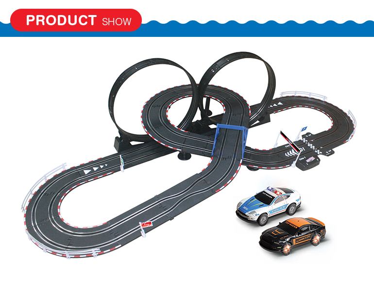 Hobbie electric kids play 1:43 scale diy race track rc cars race track by wire control