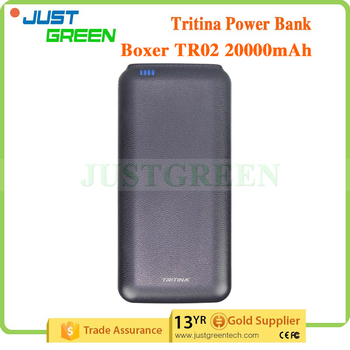 Tritina TR02 power bank 20000mah Two USB Output Dual Port External Battery Portable Charger wholesale power bank