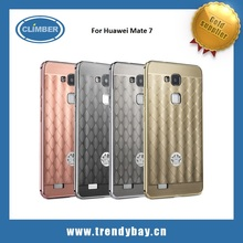 Rose gold Aluminum metal bumper case cover for huawei mate 7
