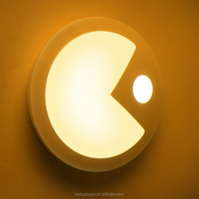2016 Motion Sensor LED Wall Lights Pac-Man led lamp night Creative eat Peas wall lamp night light